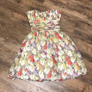 Ted Baker Dancing Ladies Floral Strapless Dress